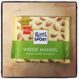 Ritter Sport White Whole Almonds
