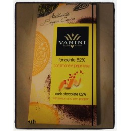 Vanini, Dark Chocolate with Lemon and Pink Pepper
